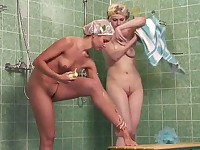 Double shower voyeur