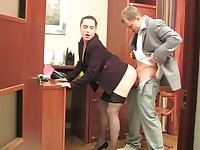 Joan and Adrian secretary pantyhose movie
